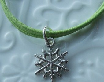 Lime Green Snowflake Friendship Bracelet