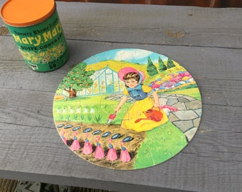 Vintage nursery rhyme jigsaw of Mary Mary quite contrary