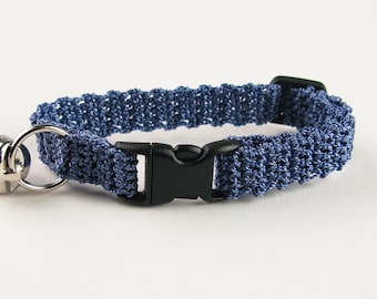 Cat Collar Crochet Blueberry