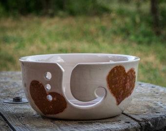 Hearts Yarn Bowl