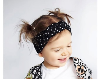 Polka dot knotted headwrap - BABY girl