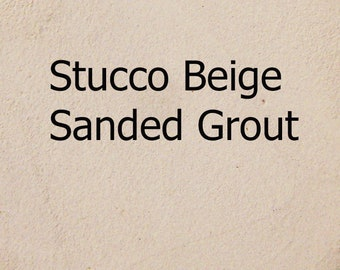 Sample Size STUCCO BEIGE 1/2 Pound Mosaic Tile Sanded Grout Polymer Fortified Interior Exterior Just Add Water