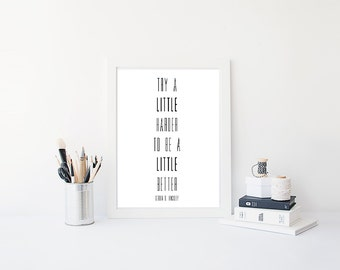 Instant Download, Black and White Print, LDS Quote, Gordon B. Hinckley, Wall Art, Minimalistic Art, Digital Print, LDS Printable, Printable