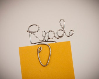 Bookmark with personalized word, handmade bookmark made of of steel, wire name, custom word