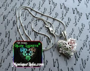 Rainbow Glowing Heart Glow Locket ® Necklace