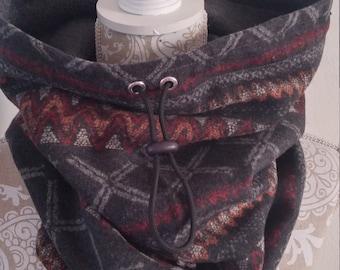 Aztec Jacquard Infinity Scarf, Neck Warmer, Warm Scarf, Aztec Scarf, Cowl Scarf, Gift, winter accessory
