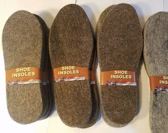Llama Fiber Boot insoles or shoe insoles. Warmth and cushioning! Naturally water resistant. Made in the USA! All sizes. American Llama farms