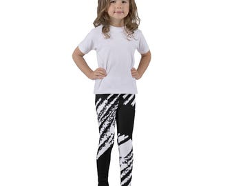 Valentines Day, Love, White Heart, Dance, Yoga Pants, Tights, Kid's leggings