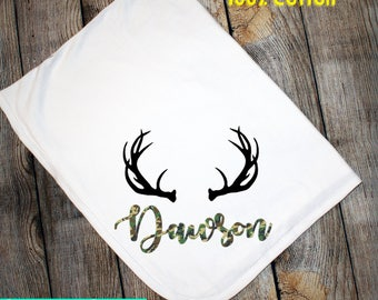 Personalized 30x40 Baby Blanket Camo