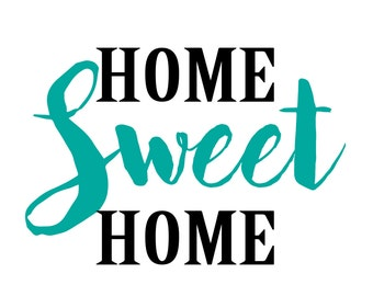 Home sweet home printable in teal