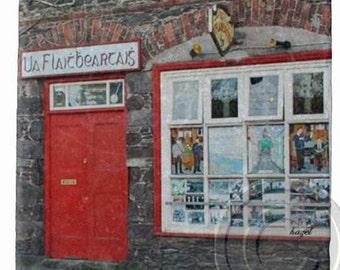 O' Flahertys Pub, Dingle, Irish Pub Coaster.