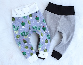 Baby Pants - Newborn Pants - Kid Pants - Baby Boy Leggings Outfit - Baby Boy Clothes - Cactus Baby Leggings - Gender Neutral Baby Clothes