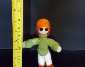 Pukita one of a kind hand made needle felted doll