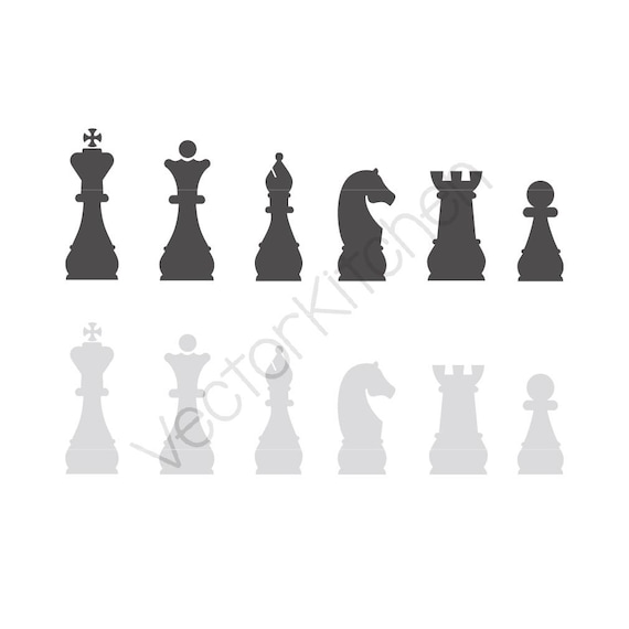 Chess Pieces SVG, EPS, DXF, Silhouette, Cricut, Vector, Instant ...