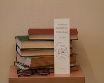 Albert Einstein Quote Bookmark (own illustration)