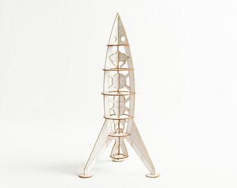 Laser Cut Rocket Ship Model Kit for the Manned Mission to Mars, Mother Ship, Unique gift