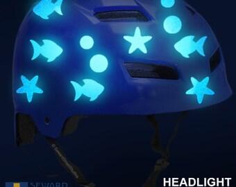 Tribal Reflective Decal Set Thin Tribal Helmet Stickers