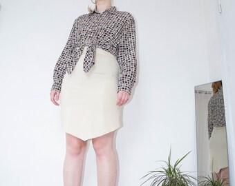 Snake Skin Skirt | Yellow Skirt | Pencil Skirt | Snake Leather | Faux Leather | Skirt | Midi Skirt | Knee Length Skirt | Animal Print