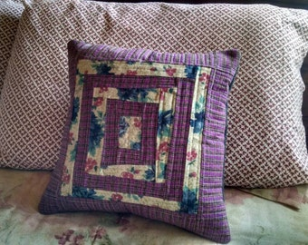 Colorful Quilted Pillow