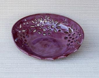 pottery, handmade, handmade pottery, decor bowl, pottery fruit bowl, purple pottery, purple handmade pottery,Purple fruit bowl,decor pottery