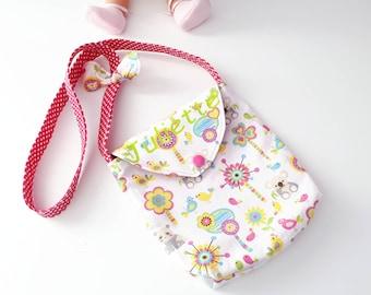 Handbag/shoulder bag child customizable name KOALAS finishing bow.