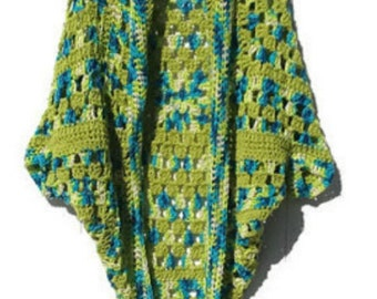 Cocoon Style Cardigan Crochet Lightweight Handmade  Ready to Ship Gift for Mom Gift for Her