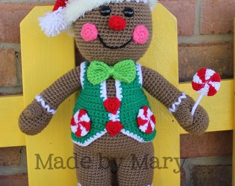 PDF Pattern: Gingerbread Boy Crochet Pattern *Crochet Pattern Only, Not Actual Doll* Crochet Gingerbread