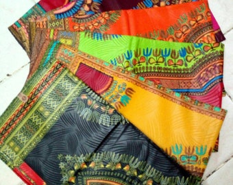 6Yards Dashiki Fabrics each Variety of colours to choose