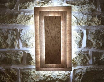 Modern Wall Light Sconce Handmade Wooden Wall Light Fixture Accent Lighting Bold Feature Wall