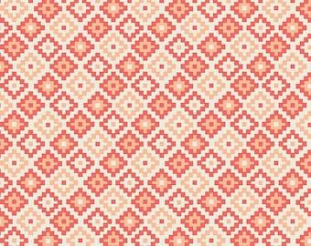 Woodland Spring Geometric in Coral, Design by Dani, Dani Mogstad, Riley Blake Designs, 100% Cotton Fabric, C4994-CORAL