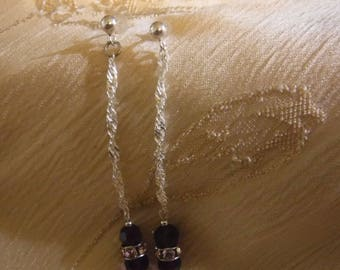 Burgandy Crystal Dangles
