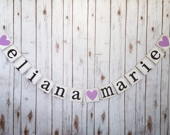 CUSTOM NAME BANNER,baby shower decorations, baby shower decor, first name middle name banner, baby shower sign, custom name sign,name banner