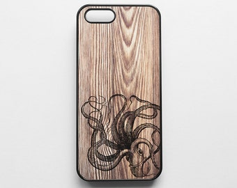 Octopus Wood Print Texture iPhone 6 Case iPhone 6s Case iPhone 6 Plus Case iPhone 6s Plus Case iPhone 5s Case iPhone 5 Case iPhone SE Case
