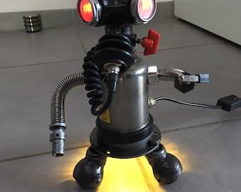 Lamp industrial loft design recycled robot decor