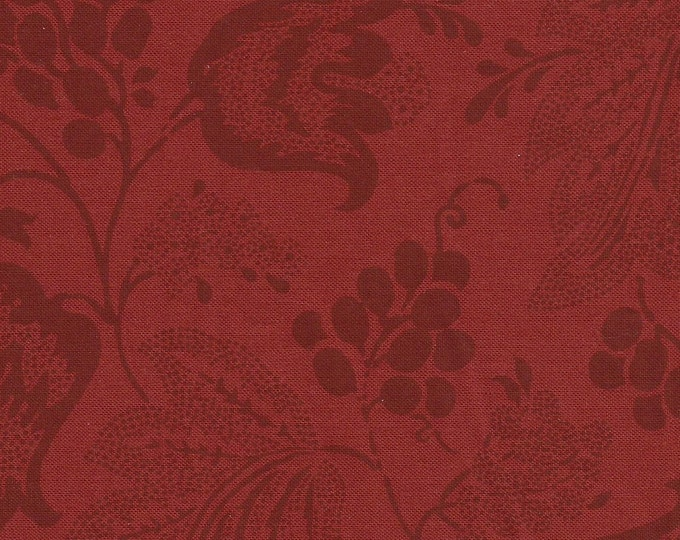 Dutch Chintz - Japanese Red - Ton sur Ton 1/2 yd