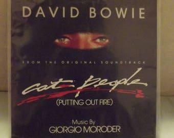 David Bowie Cat People UK Single