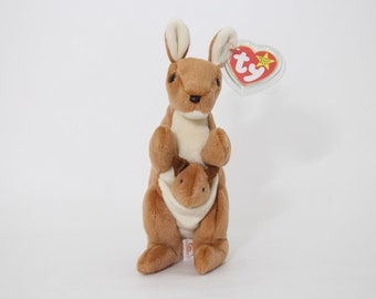 TY Beanie Baby -Pouch the Kangaroo -With Tag cover-