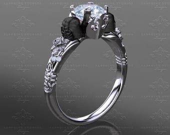 Prevail White Gold Inspired Star Wars Engagement Ring