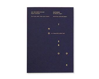 Carnet A5 - Blue Notes