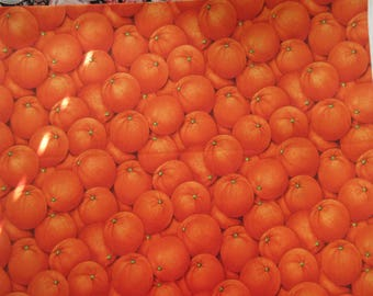 Oranges Fabric - Farmers Market 2007 RJR Fabrics  - OOP - Quilters Cotton - Price per yard