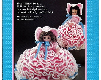 Mary Had A Little Lamb: Pillow Doll, Music Box Doll, or Bed Doll Crochet Pattern Fibre Craft FCM164