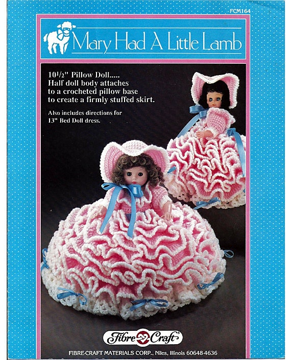 Mary Had A Little Lamb Pillow Doll Music Box Doll Or Bed