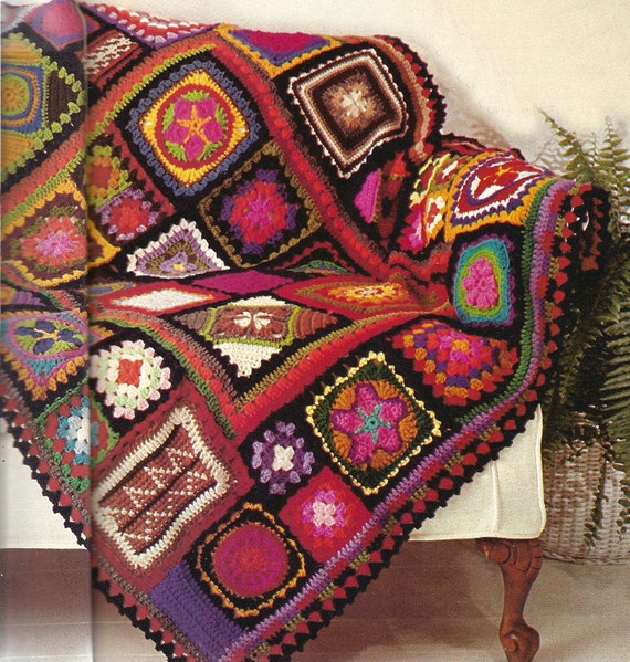 Crochet Pattern For Granny Square Sampler Afghan PDF Instant