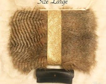 Large Fluffy Fur Clutch Purse