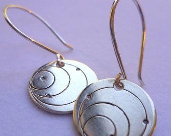 sterling silver earrings solar system orbit