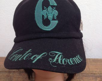 Vintage Conte Of Florence Cap | Conte Florence Ski Water Wool Adjustable Hats Made in Italy