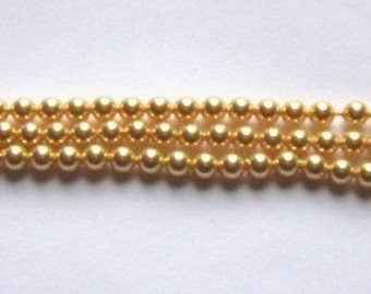 Swarovski crystal pearl beads PEARL 5810  crystal beads GOLD - Available in 4mm, 6mm, 8mm, 10mm and 12mm