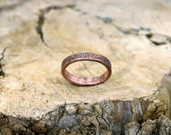 11 3/4 plus, Copper Ring, Arthritis Ring, Copper Jewelry, Adjustable Ring, Mens copper Ring - Womens copper Ring - Rustic copper Ring - USA