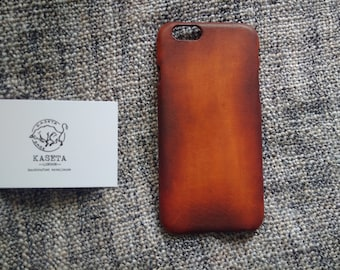 iPhone 8 Leather, iPhone 7 leather, iPhone 6s 6, iPhone 7 Plus Case, Handmade Gift Idea ''Bull - OldDarkBrown''