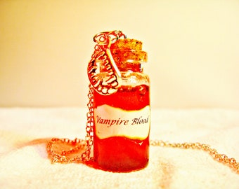 Bottle Necklace - Vampire Blood (shipping included)